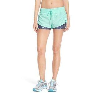 Zella 'Twice as Nice' Mint/Gray Workout Shorts